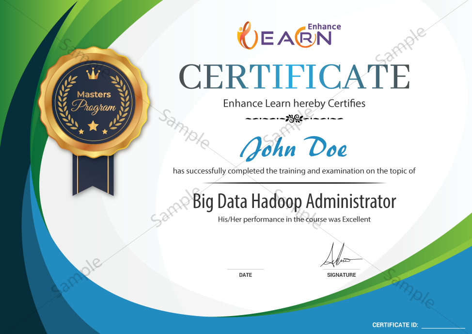Big Data Hadoop Administration Certificate