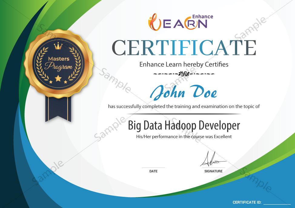 big data hadoop developer certificate