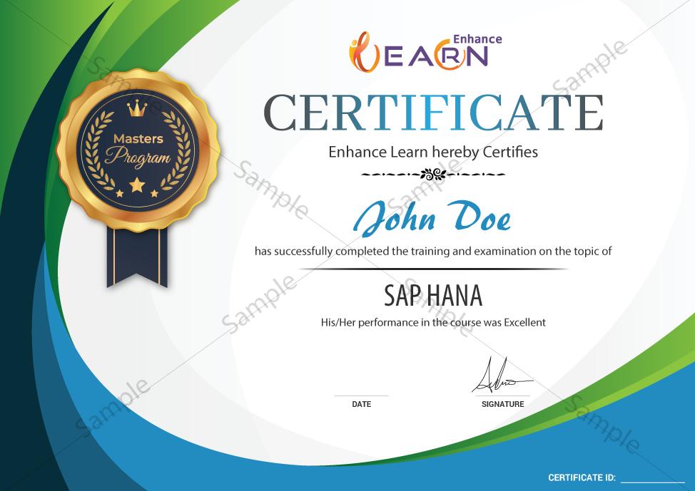 SAP HANA Certificate